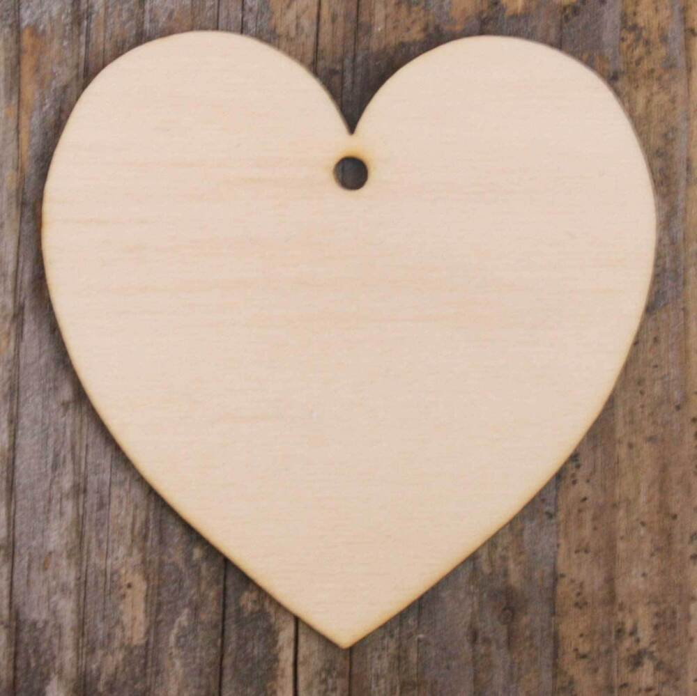 Wooden curvaceous heart craft shape 3mm plywood in sizes 3 for Wooden hearts for crafts