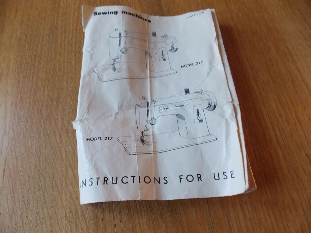 Singer Merritt Sewing Instructions Manual  Photocopy By
