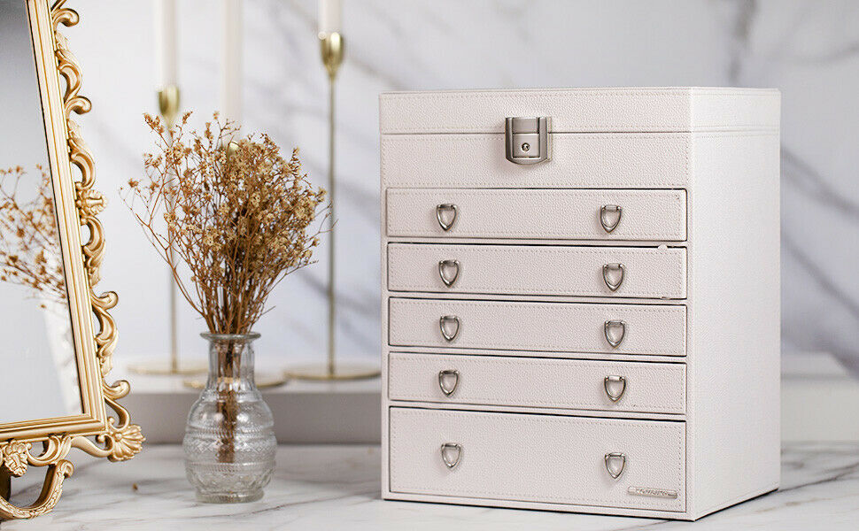 Extra Large Jewelry Box Cabinet Armoire Bracelet Rings