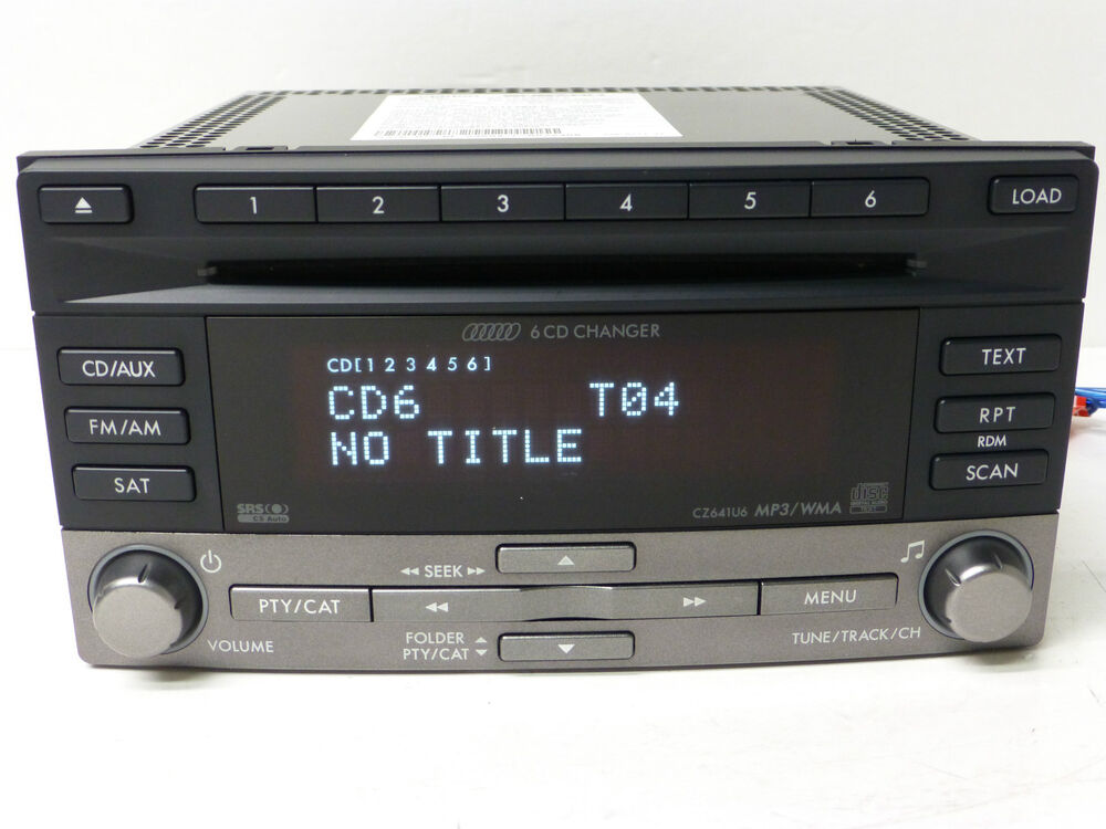 09 -13 OEM SUBARU WRX FORESTER SRS SAT RADIO 6 CD CHANGER ...
