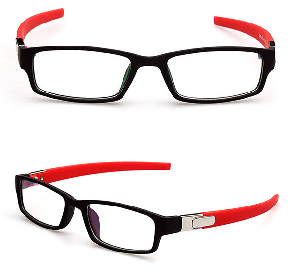 New Sport Black Red Eyeglass Frames Eyewear Clear lens ...