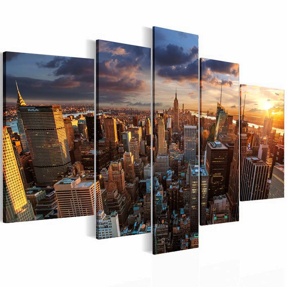 No Framed Hd Home Decor Canvas Print Wall Art Picture New York Bridge City Black Ebay
