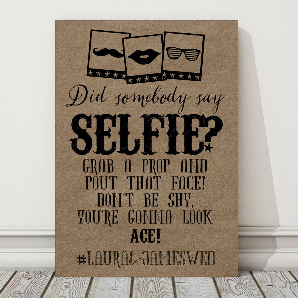 personalised a4 photo booth selfie sign wedding party props buy 2 get 1 free s ebay. Black Bedroom Furniture Sets. Home Design Ideas