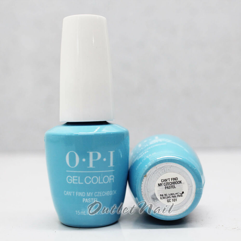 OPI GelColor PASTEL GC 101 CAN'T FIND MY CZECHBOOK 15 ML