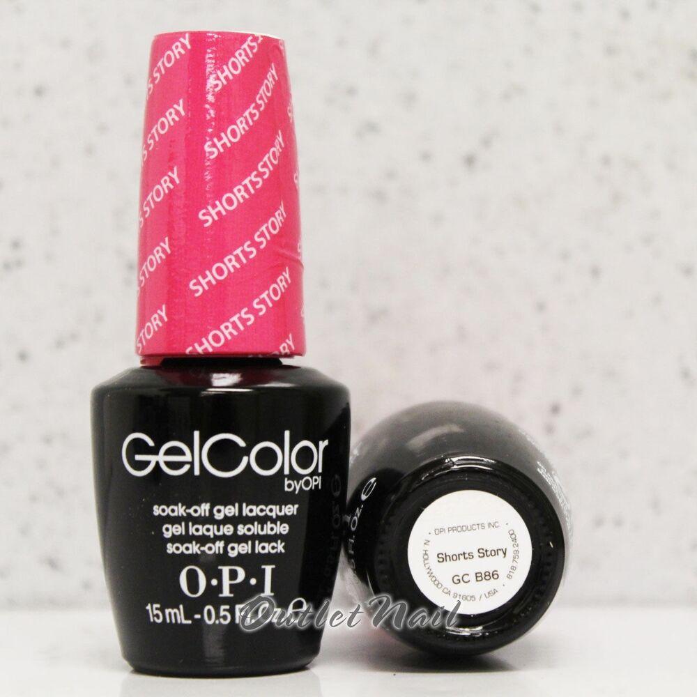 Hot Pink Gel Polish: OPI GelColor Brights Collection GC B86 SHORTS STORY 15mL