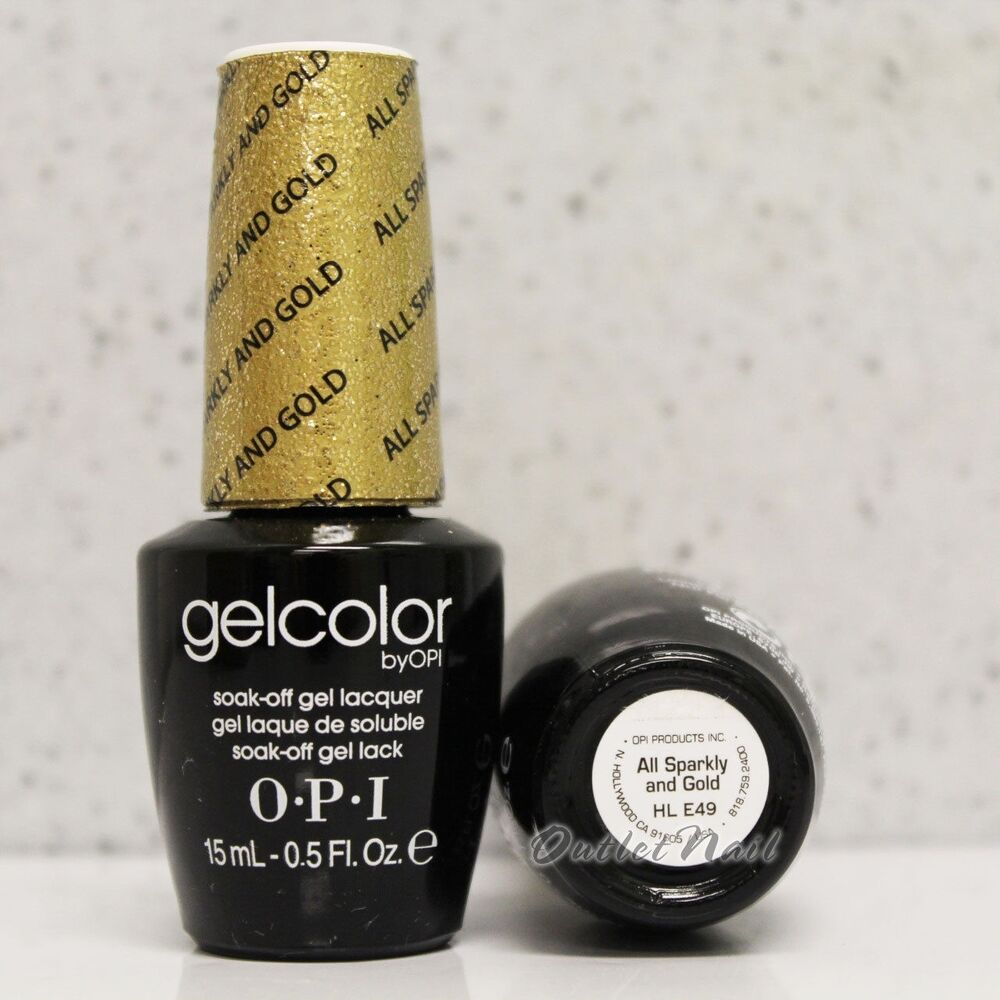 OPI GelColor Mariah Carey HL E49 ALL SPARKLY AND GOLD 2013 ...