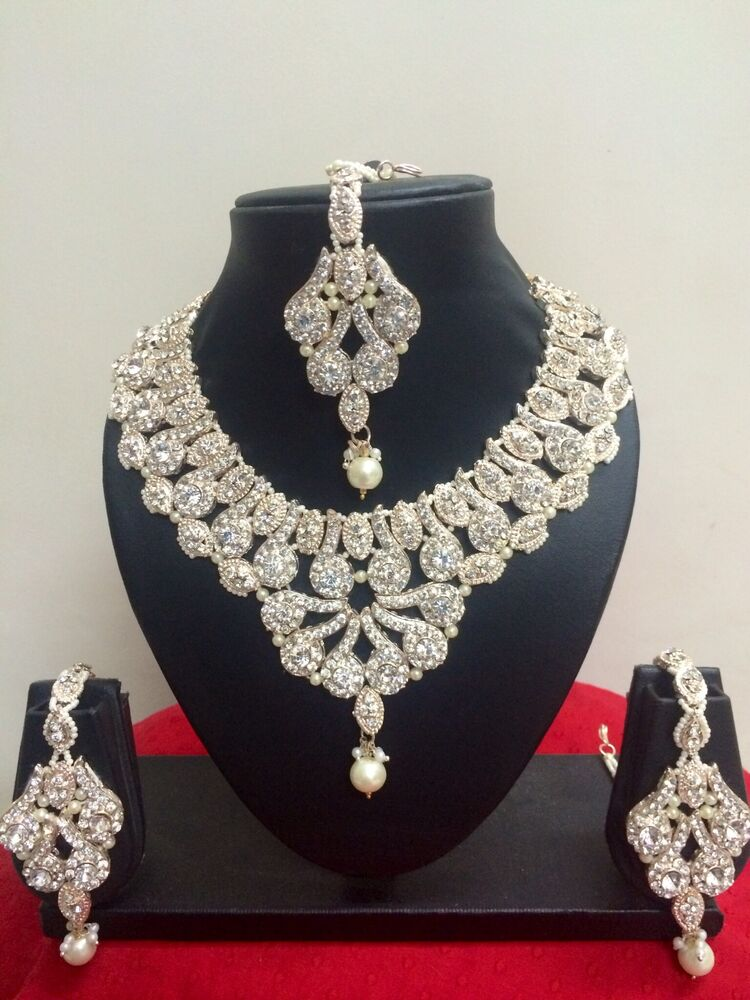 wedding ring necklace indian designer fashion bridal jewelry necklace 9968