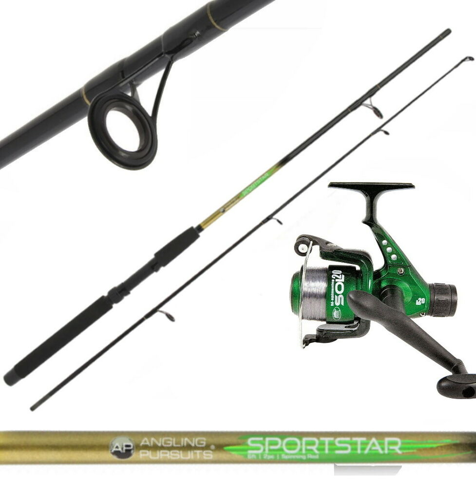 6ft sportstar 2pc spinning fishing rod and reel with lures for Trout fishing rod and reel