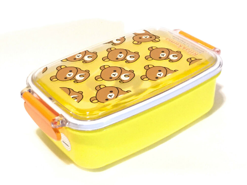 rilakkuma bento lunch box with partition kawaii made in. Black Bedroom Furniture Sets. Home Design Ideas