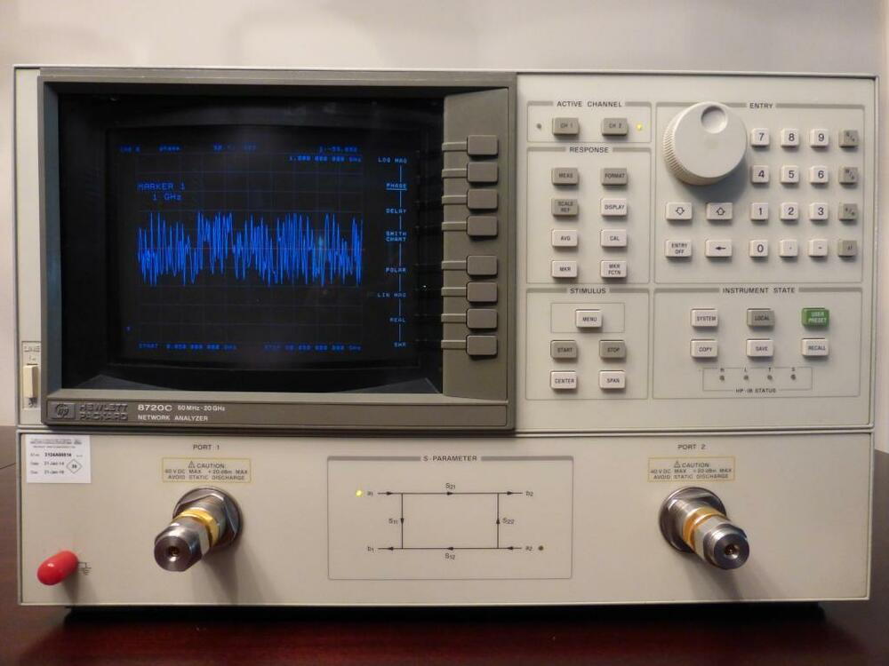 Electrical Network Analyzer : Agilent hp c mhz ghz rf vector network