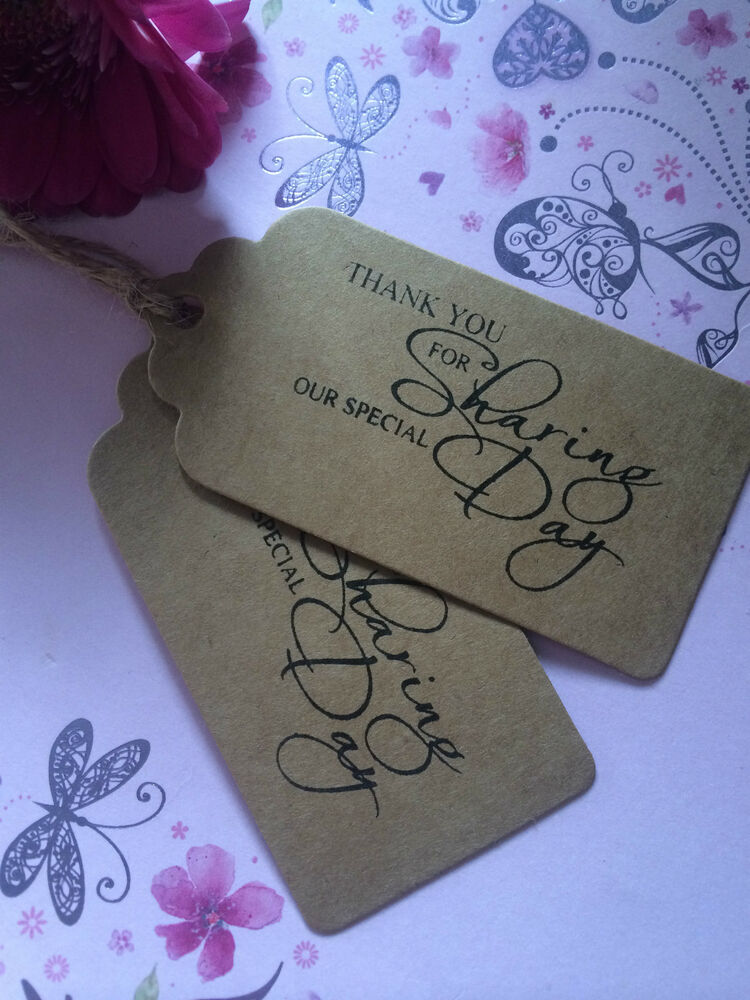 Wedding Favor Tags Ebay : ... THANK YOU FOR SHARING WEDDING LABELS FAVOR JAM JAR GIFT TAGS eBay