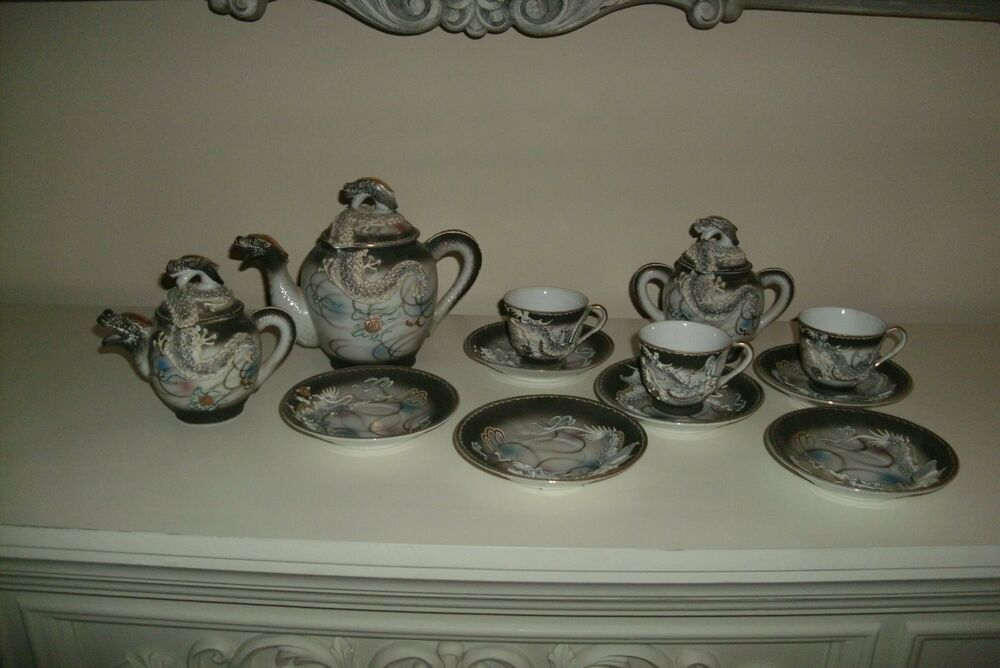 Antique 1920s Moriage Japan Hand Painted Victoria China