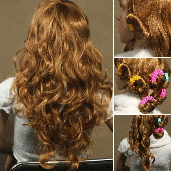 how to style hair with rollers magic leverage circle diy hair styling roller curler tool 4146