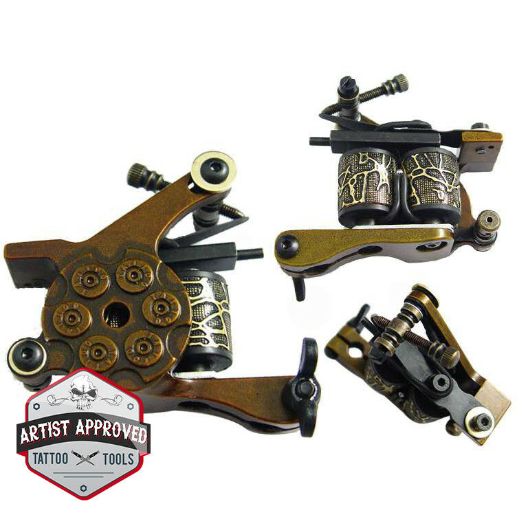 Tattoo gun machine shader 10 wrap coils gold ebay for Tattoo gun parts