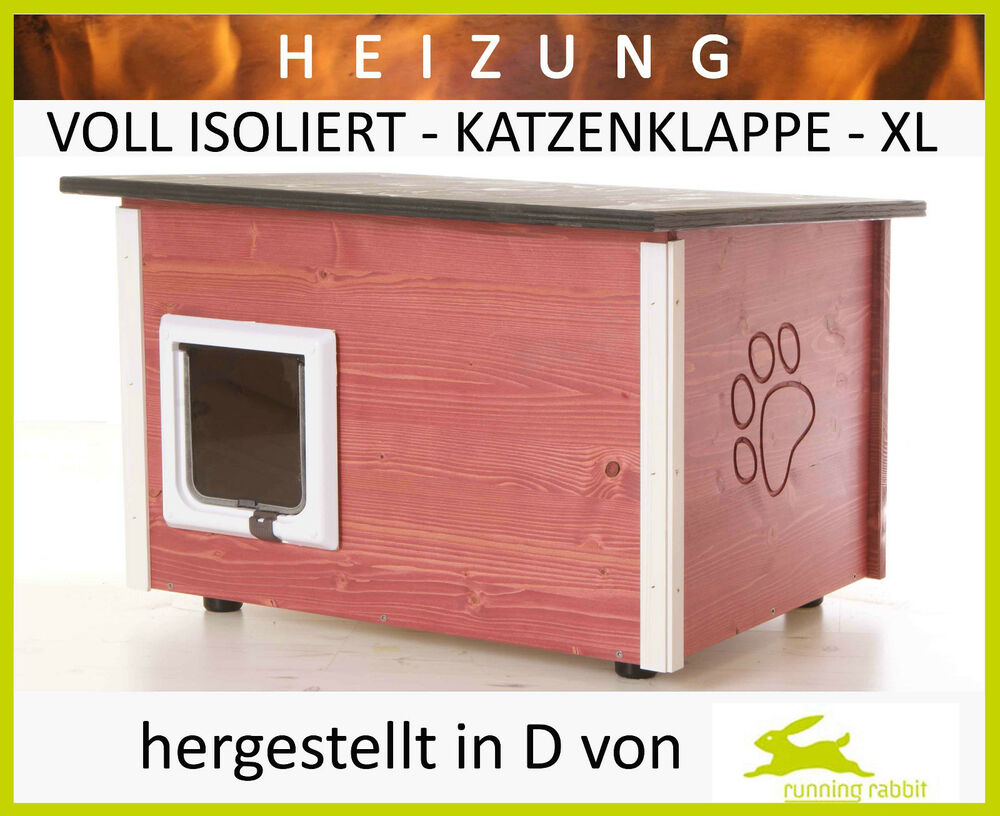 katzenhaus heizung boden w nde isoliert katzenklappe katzenh tte ebay. Black Bedroom Furniture Sets. Home Design Ideas