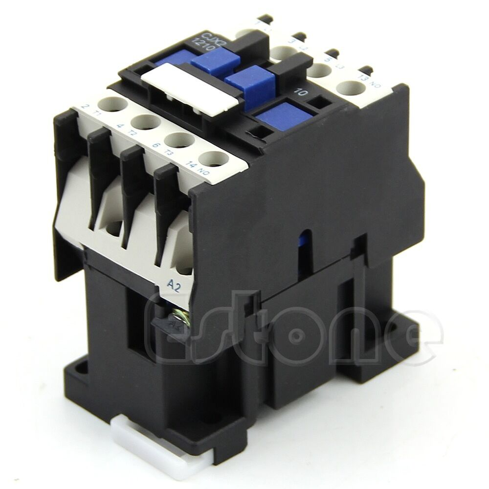 Cjx2 1210 ac contactor motor starter relay 3 phase pole for 3 phase motor starter