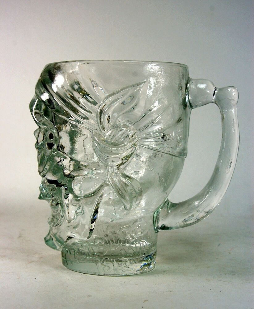 treasure island skull mug glass pirate