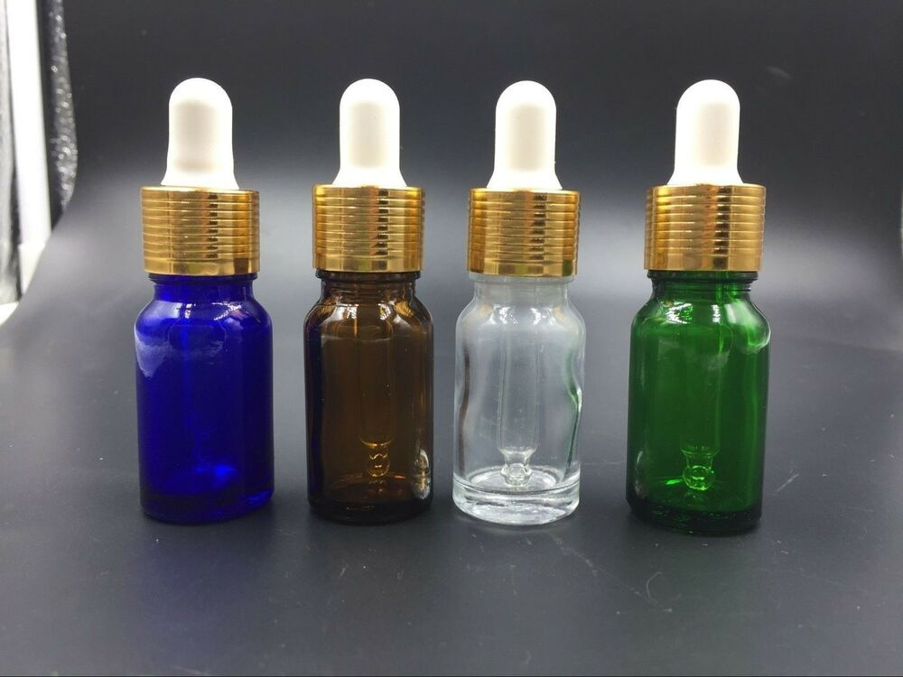 2 20pcs 4 Colors 5ml Frosted Glass Dropper Bottles Vials