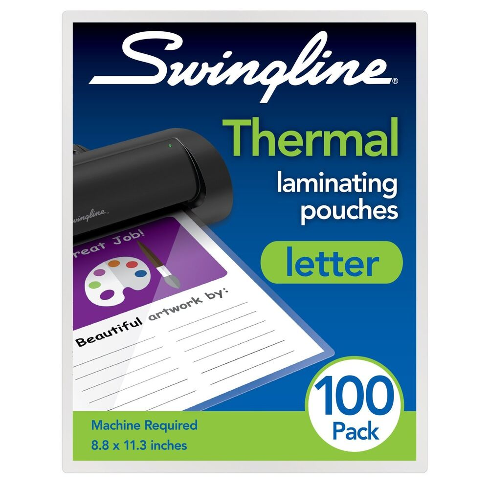 swingline thermal laminating pouch letter size standard With thermal laminating pouches letter size