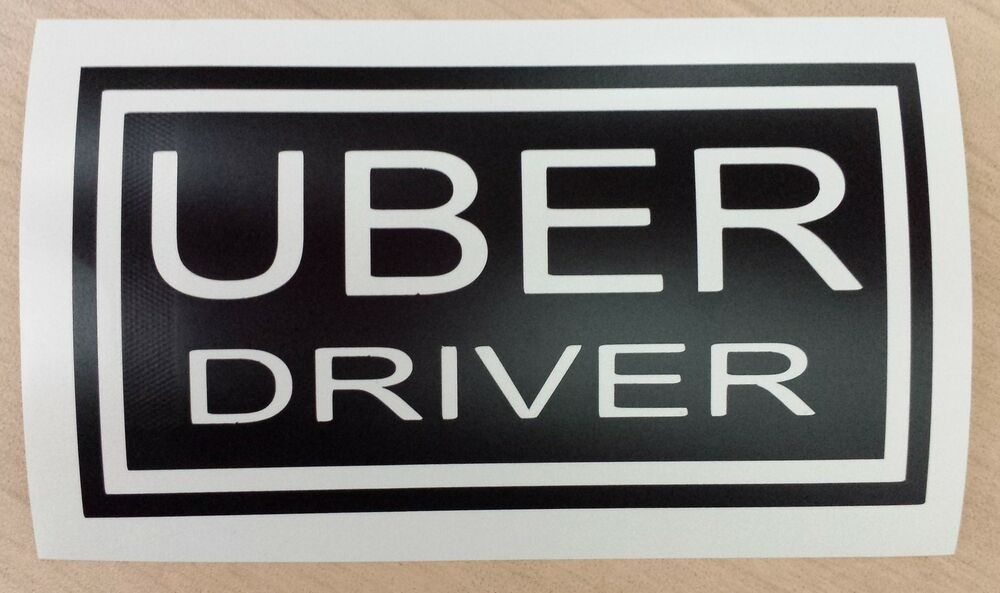 customized personalized decal uber sign rideshare sticker lyft taxi drivers ebay. Black Bedroom Furniture Sets. Home Design Ideas