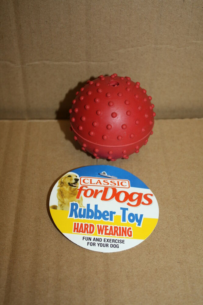 Rubber Ball Dog Toy : Classic pimple rubber ball bell dog chew toy hard wearing