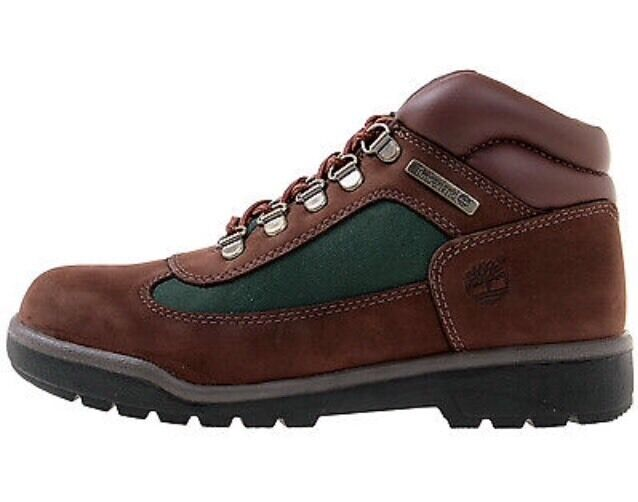 timberland field boot juniors style 16937 brown green