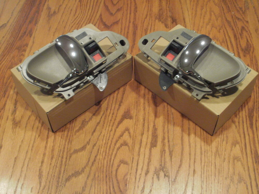 Chevy Tahoe Interior Inside Chrome Door Handles Tan 95 1996 1997 1998 1999 2000 Ebay