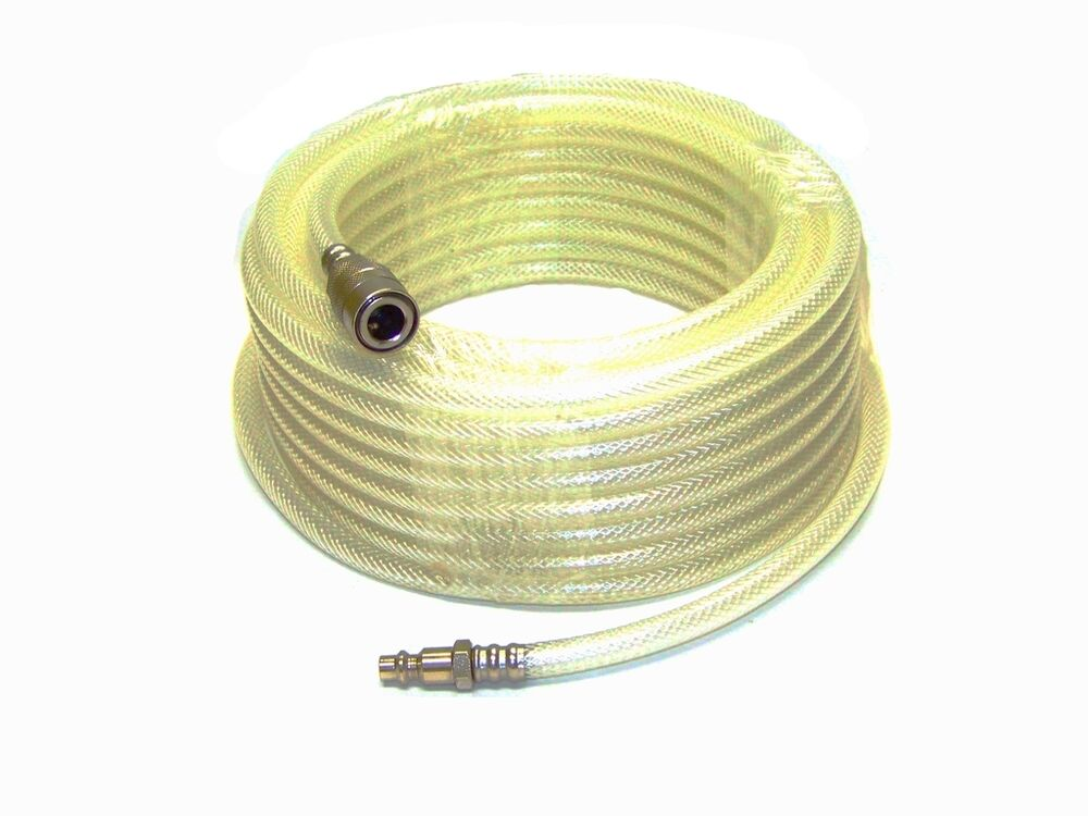 33 Ft 1 4 Id Clear Air Compressor Hose With Quick Couple And Fitting Tool Kit Ebay