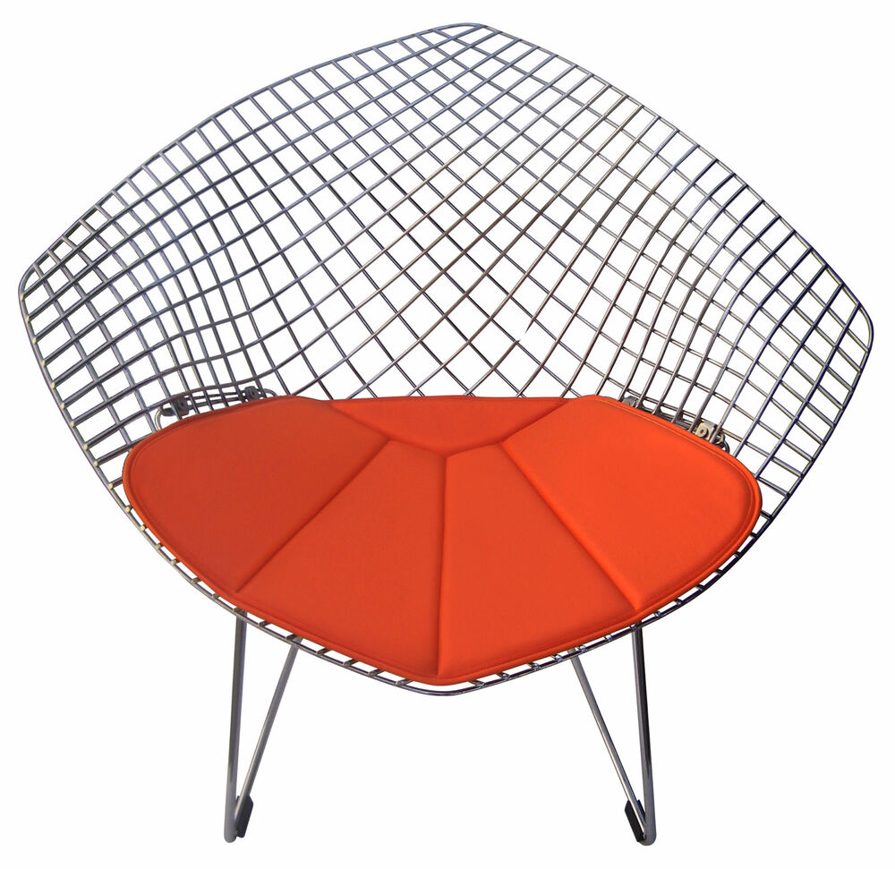 cushion for bertoia diamond chair vinyl many colors available ebay. Black Bedroom Furniture Sets. Home Design Ideas