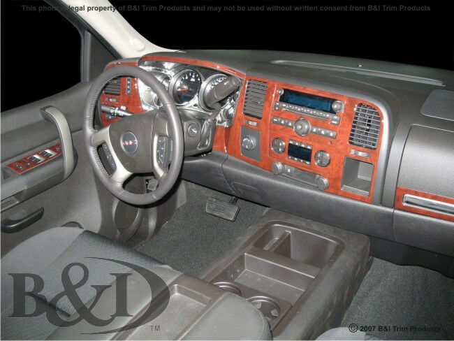 chevy silverado wood grain dash kit fits 2010 2013 with. Black Bedroom Furniture Sets. Home Design Ideas