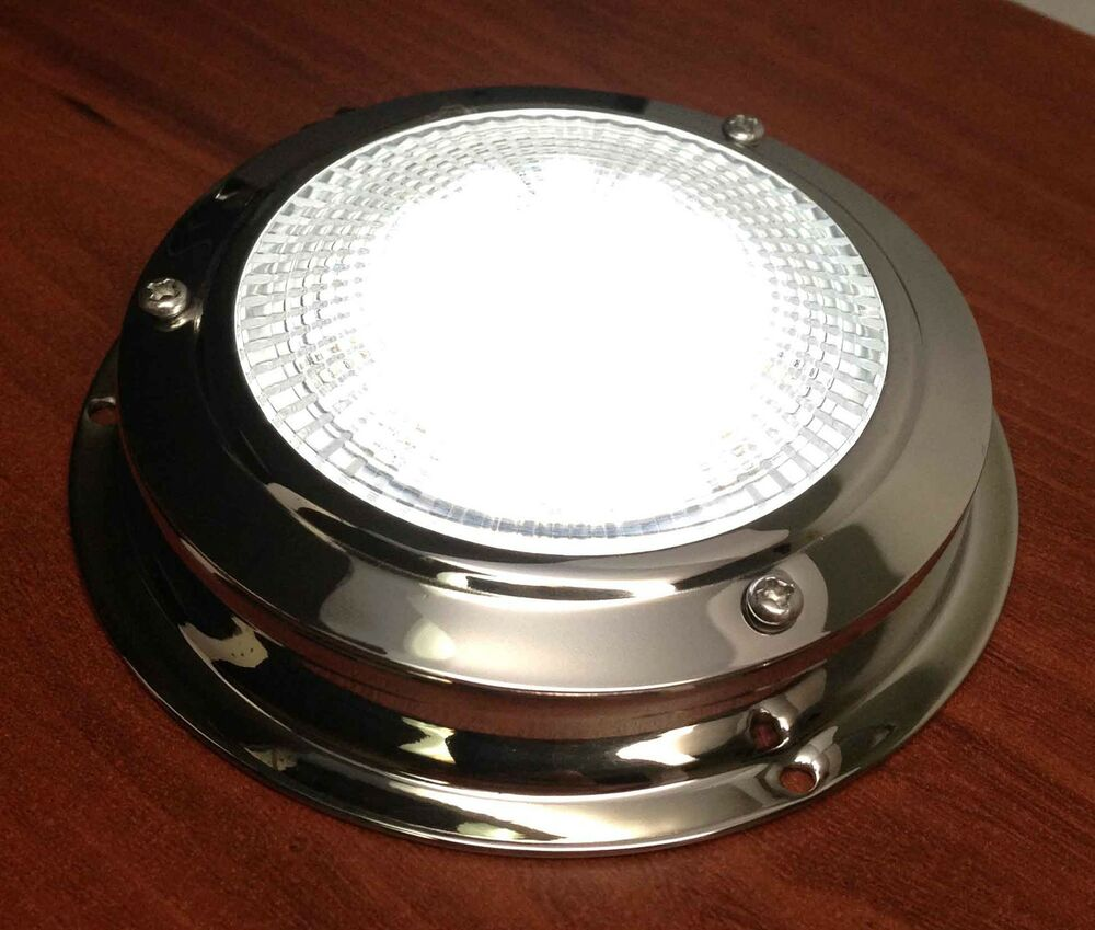 MARINE BOAT TRAILER CAR RV LED CEILING/CABIN/DOME LIGHT SS