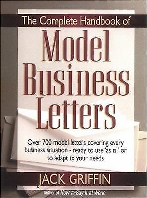 The Complete Handbook Of Model Business Letters ExLibrary