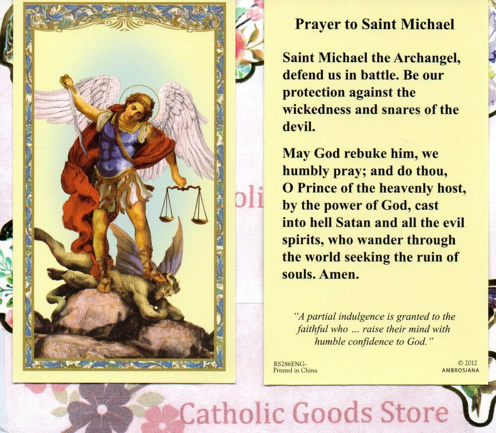 St Michael the Archangel with Prayer to St Michael ...