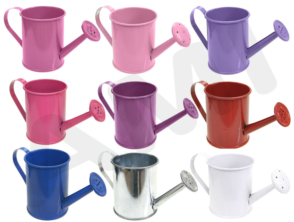 Metal Mini Coloured Watering Cans Wedding Favours Party