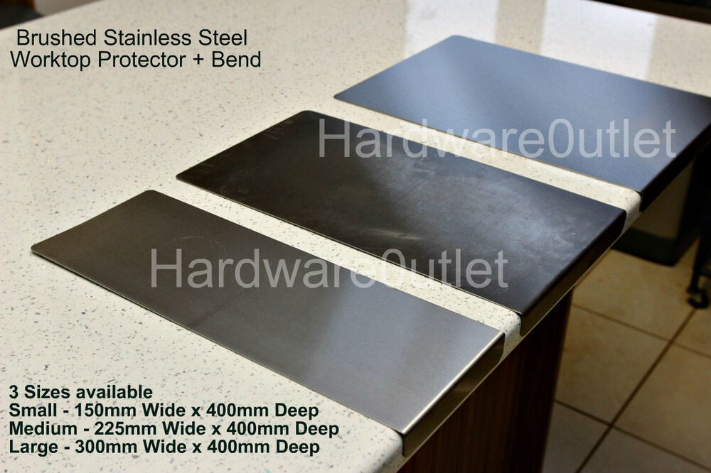 Brushed Stainless Steel Chopping Board Worktop Protector