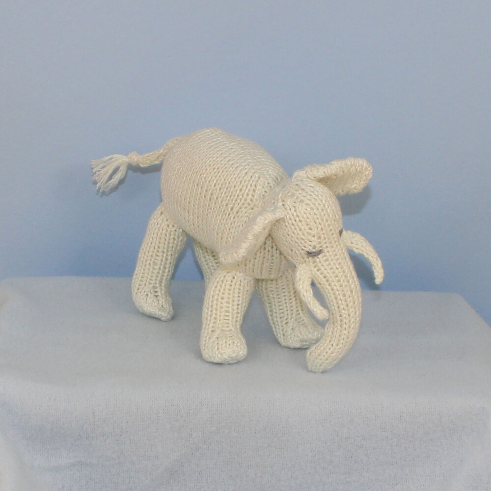 Knitting Pattern For Baby Elephant : PRINTED KNITTING INSTRUCTIONS - BABY ELEPHANT TOY ANIMAL KNITTING PATTERN eBay