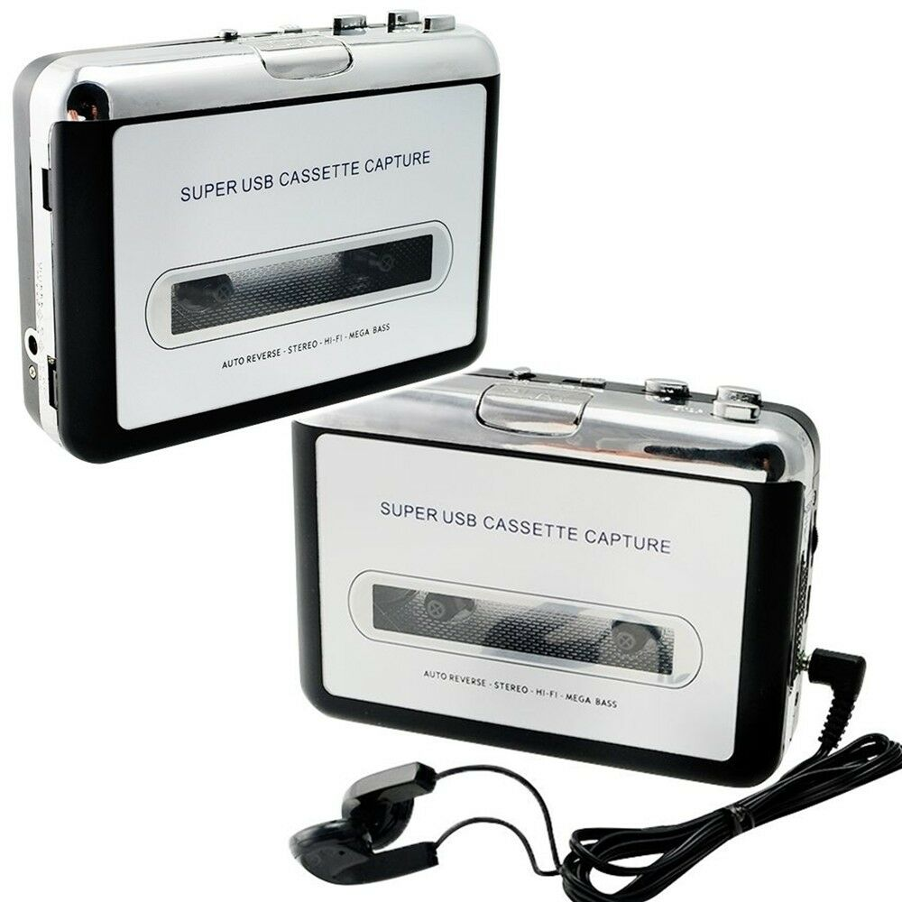 usb cassette tape to mp3 ipod cd converter capture audio music player walkman ab ebay. Black Bedroom Furniture Sets. Home Design Ideas