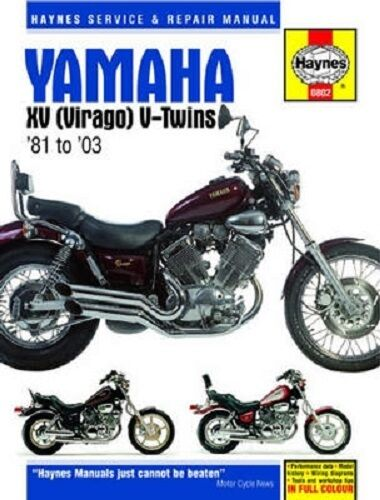 Haynes Service Repair Manual 0802 Yamaha Xv700 Virago 1984