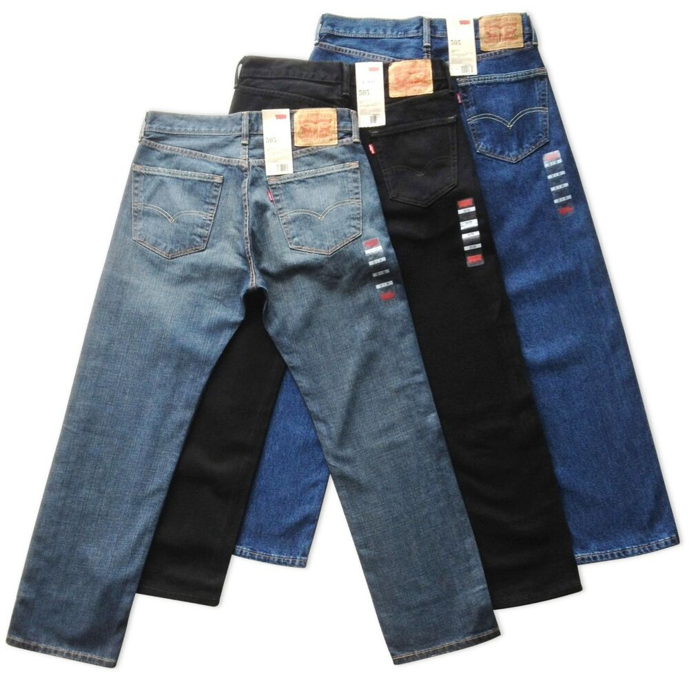 Mens Levis 505 Regular Fit Jeans
