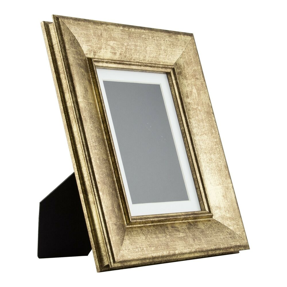 Verandah table top 5x7 vintage aged gold standing picture for How to display picture frames on a table