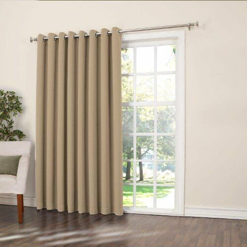 sun zero barrow extra wide room darkening patio curtain panel 100 by 84 inch s ebay. Black Bedroom Furniture Sets. Home Design Ideas