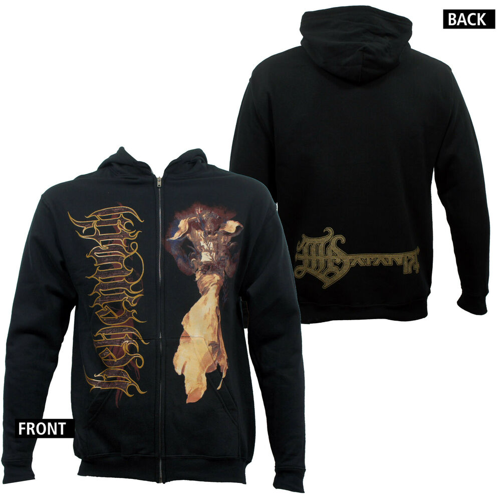 Authentic Behemoth Band Angel Death Metal Zip Up Hoodie