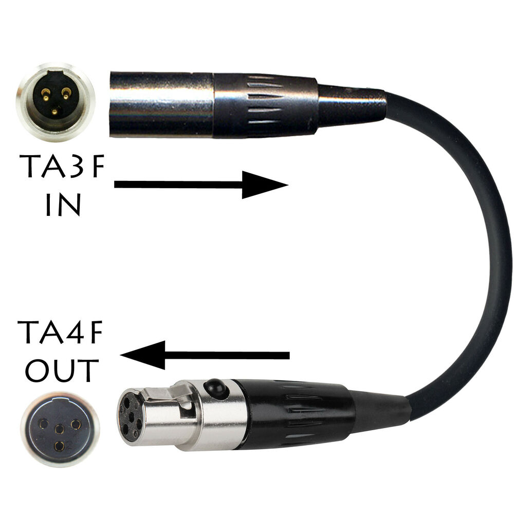 Ta3f 3 Pin Mini Xlr Akg Samson Microphone Adapter To Shure