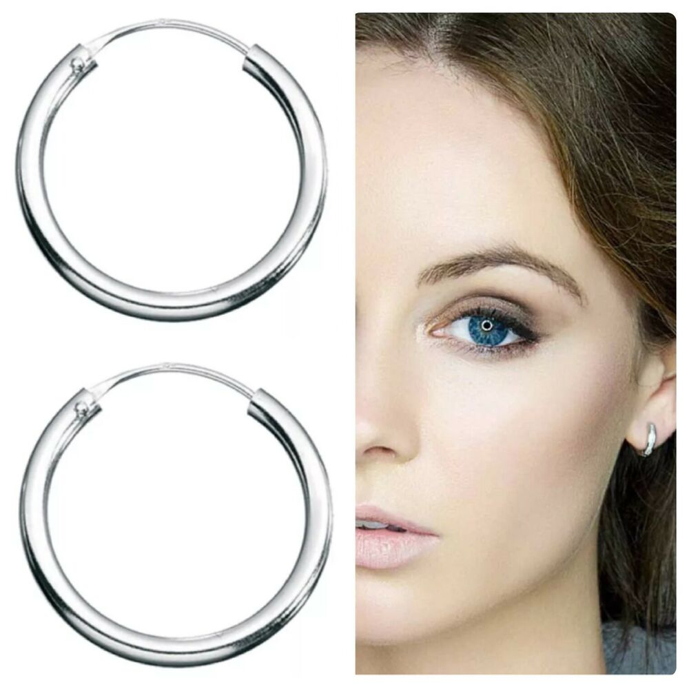 mens sterling silver hoop earrings sterling silver mens hinged hoop sleepers nose 9775