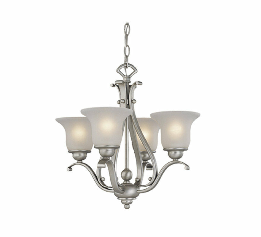 Brushed Nickel Kitchen Island Pendant Light Fixture Dining: Brushed Nickel Vaxcel 4 L Monrovia Chandelier Lighting