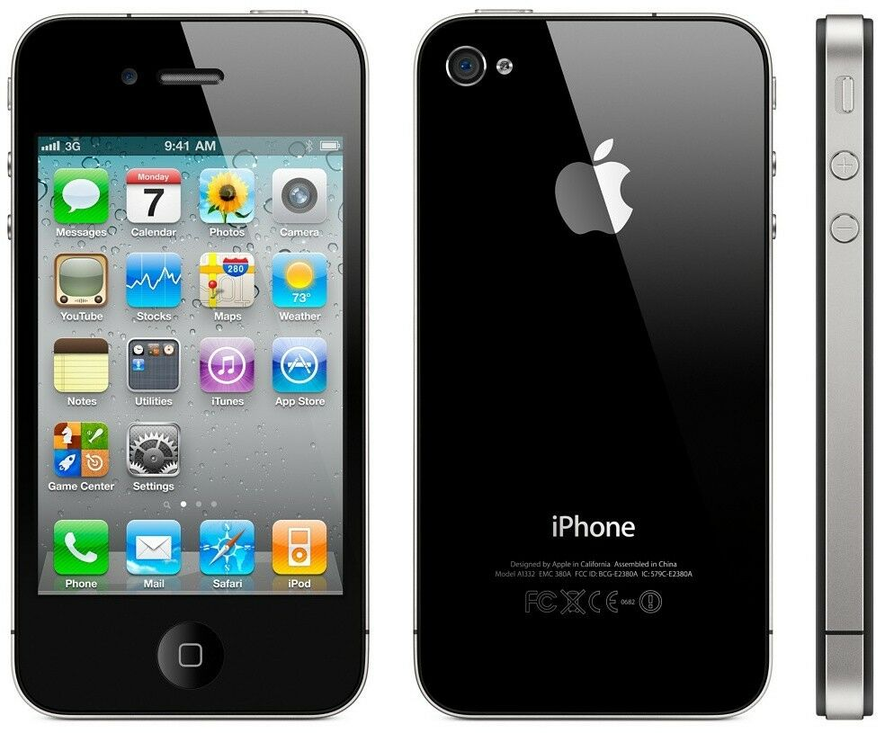 apple iphone 4s apple apple iphone 4s 16gb black smartphone unlocked sim 10095