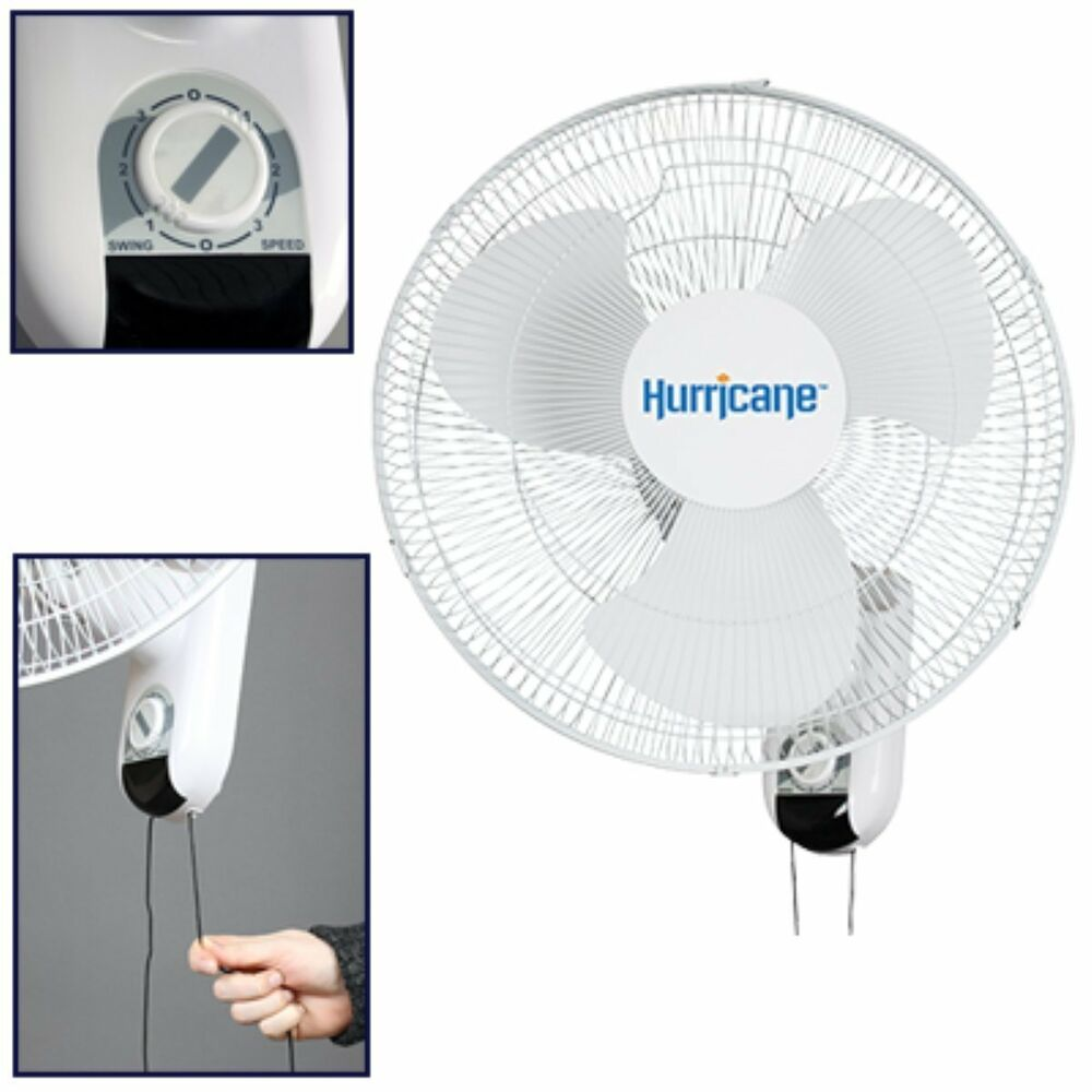Outdoor Stand Up Fans : Hurricane fans wall mount oscillating fan inch new