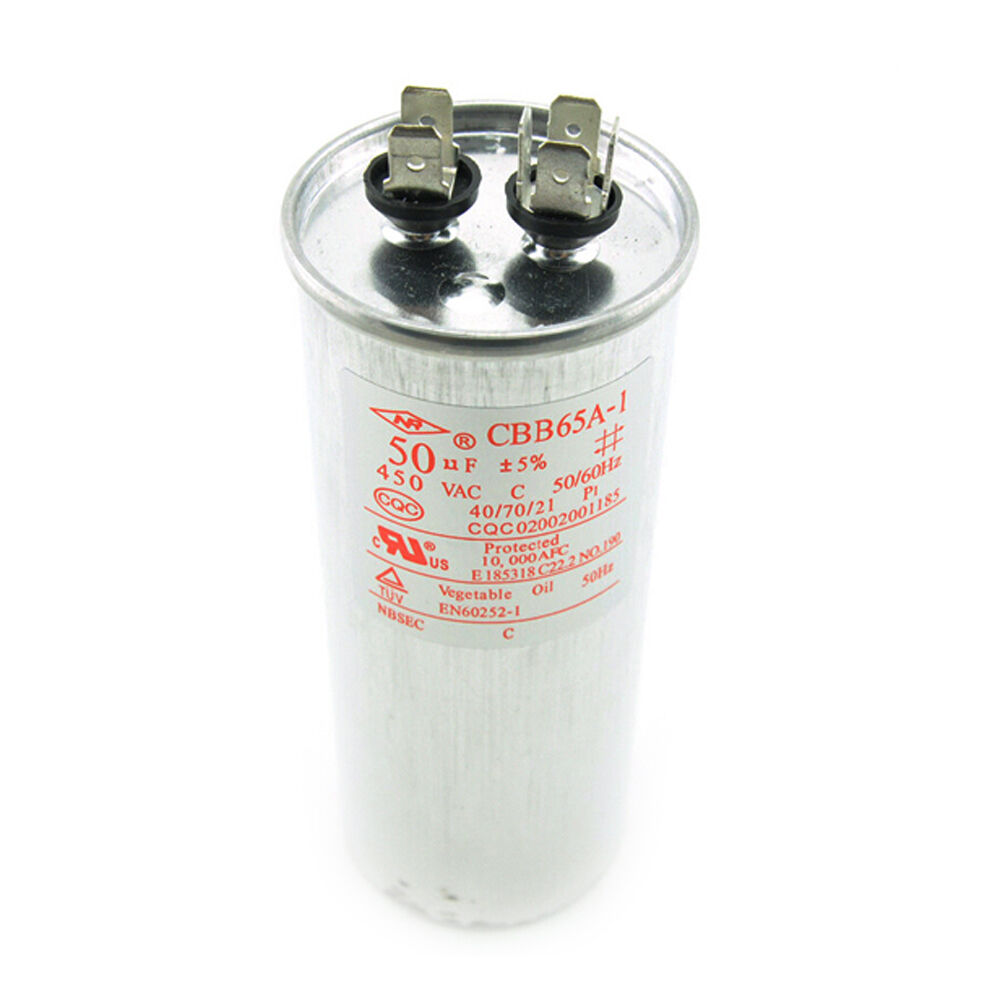 Ac 450v 50uf cbb65a 1 air conditioner motor start for Air conditioner compressor motor