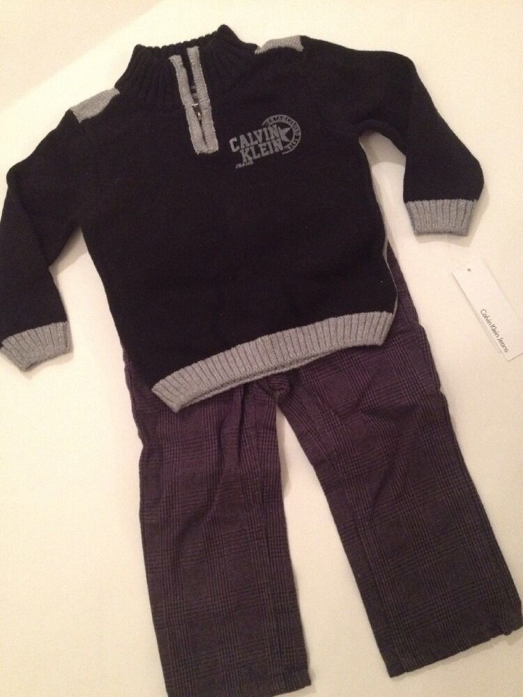 Calvin Klein Baby Boys Size 12 18 Months Outfit Set