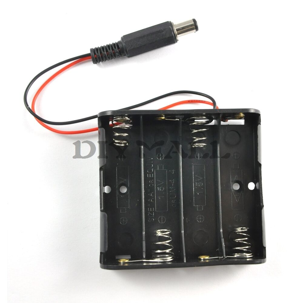 Battery case with clip for pcs aa holder